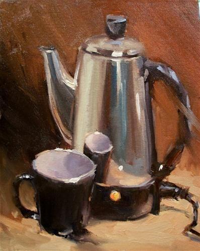 """BLACK CUP N COFFEE"" - Original Fine Art for Sale - © Doug Carter"