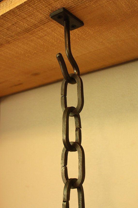 Gancho de techo de hierro forjado. Ideal para por VolcanoForge