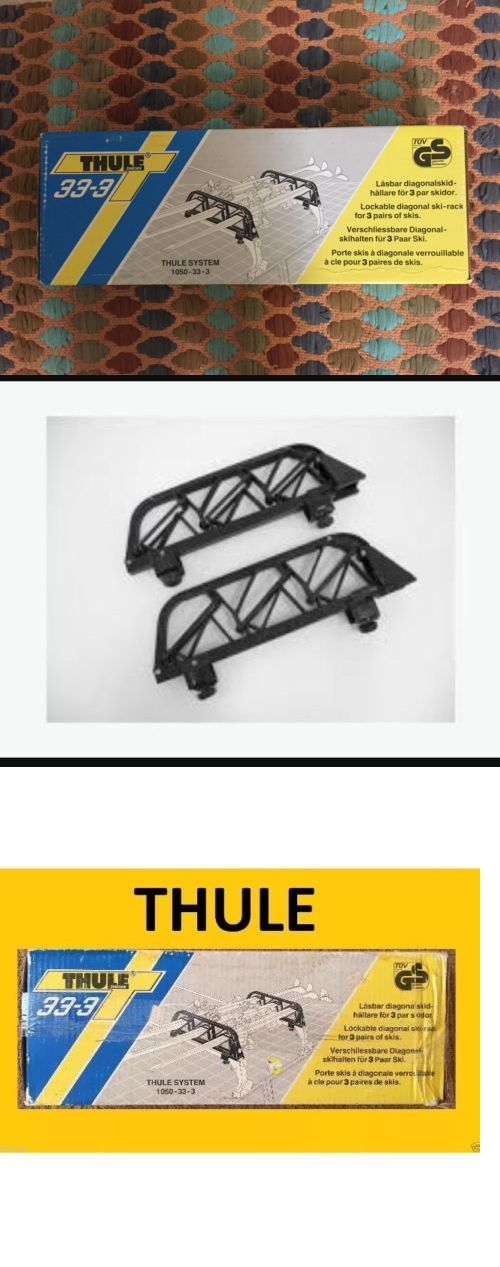 Other Cross Country Skiing 28083: Car Top Ski Rack- Brand New! 33-3 Nib Thule System. Ski Equipment Vintage. -> BUY IT NOW ONLY: $69.99 on eBay!