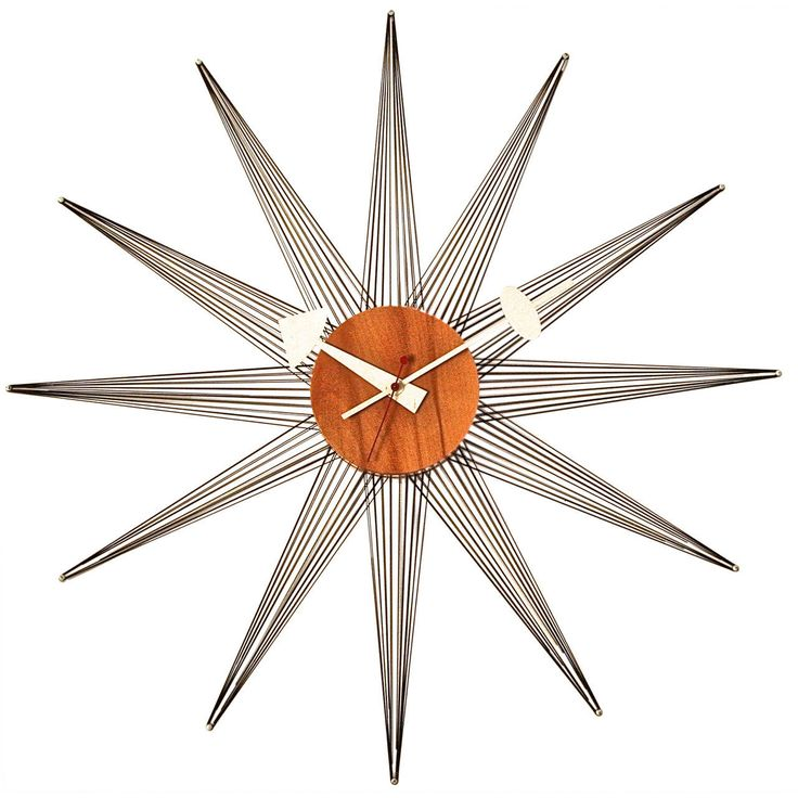 Very Rare George Nelson String Wall Clock | From a unique collection of antique and modern wall clocks at https://www.1stdibs.com/furniture/wall-decorations/wall-clocks/