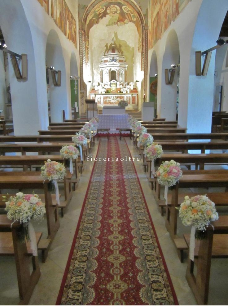 49 best church weddings images on pinterest church weddings fioreria oltre wedding ceremony church wedding flowers aisle decoration https junglespirit Images