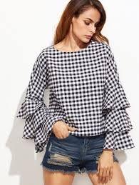 Resultado de imagen para blusas de cuadros para mujer 2018