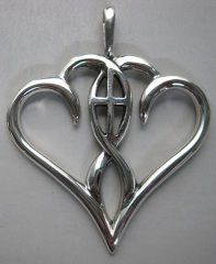 """Christian symbolism: """"One in the Spirit"""", symbol often used for marriage...I would love to have this as a charm on my family necklace or bracelet...my husband & I were married 32 years on 5/22/13...God is the head of our house..."""