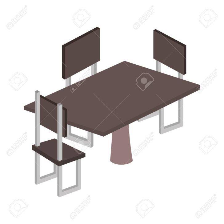 Interior Design Table Avec Chaise Table Avec Chaise Isometrique