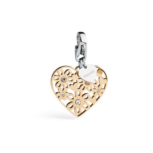COLLEZIONE | HAPPY | SHA155 | S'Agapõ  #charms #ciondoli #happy #heart #cuore #fiori #gioielli