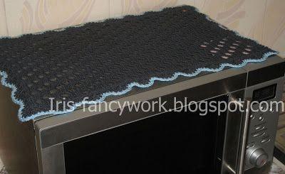 My Fancywork Blog: Салфетка-накидка для микроволновой печи связанная ...