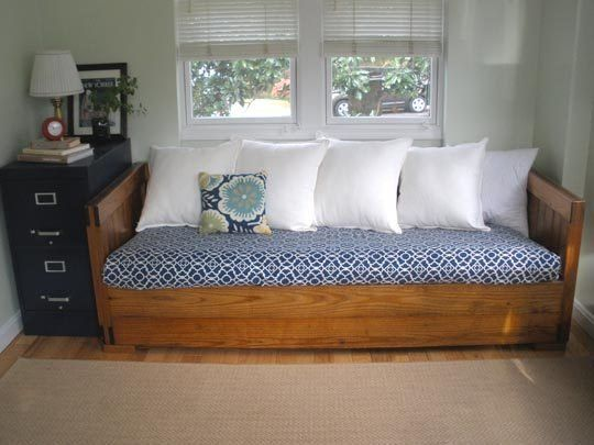 Create A More Comfy Mattress For Overnight Guests From Sofa Cushions With Diy Cover And