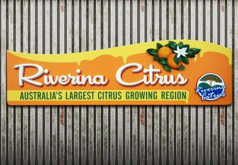 Riverina Citrus Rural Business Sign in Griffith, New South Wales | Danthonia Designs