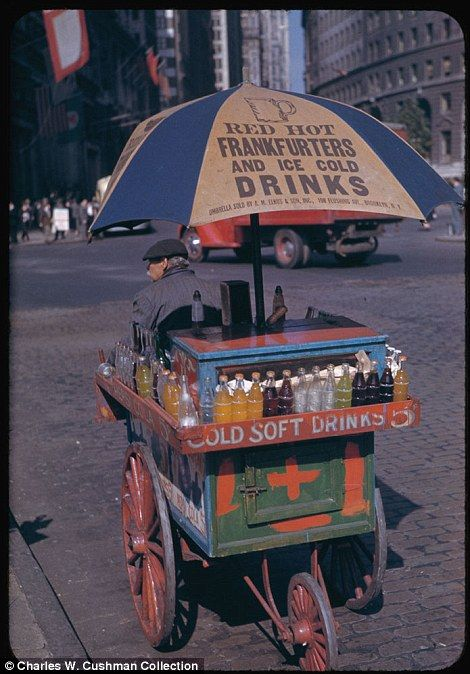 I remember Frankfuters before they were hotdogs, because i remember buying from this   kind of street vendor.