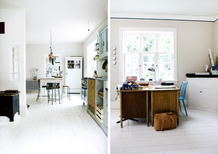 that white painted wooden floor