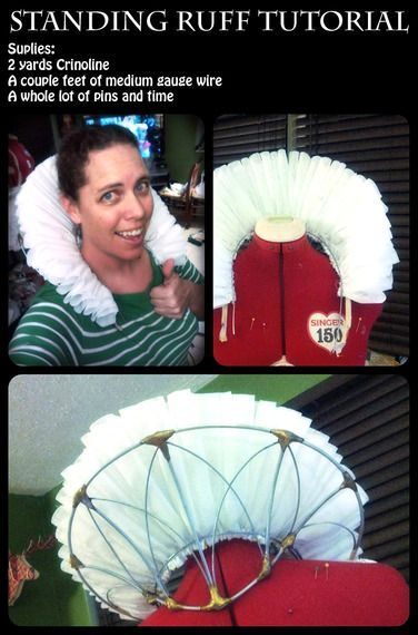Liked on Pinterest: How to make a standing Elizabethan ruff tutorial