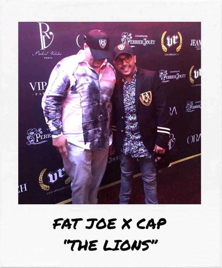 "Fat Joe VS Richard Valentine's new cap ""The Lions"" during the Cannes Film Festival"
