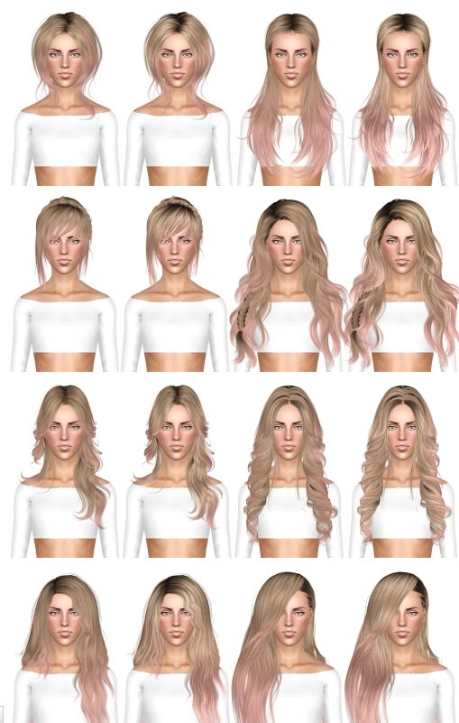Hairstyle dump 6 by July Kapo for Sims 3 - Sims Hairs - http://simshairs.com/hairstyle-dump-6-by-july-kapo/