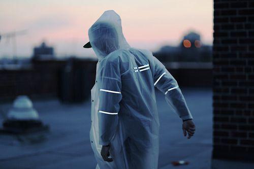 suaré transparent raincoat [style]
