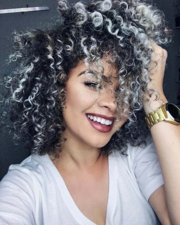 15 best Gray/Granny/Silver/Platinum Curly Hair images on