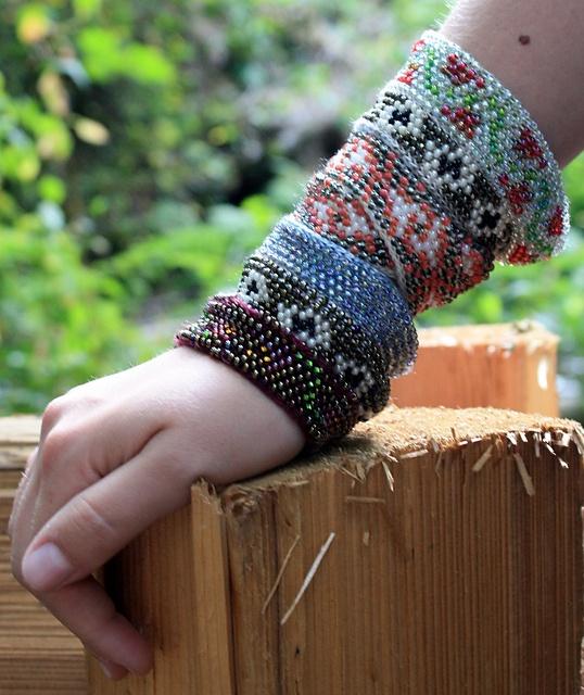Knit Bracelet Pattern : Edwardian Bead Knit Bracelet or Choker pattern by Lynette Meek Ravelry, Lib...