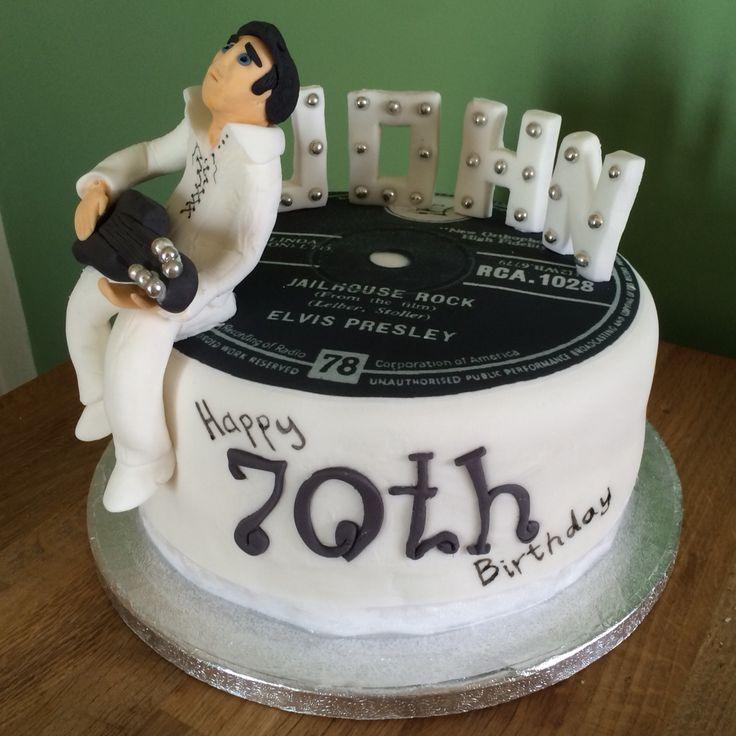 Elvis Cake - 70th Birthday Cake