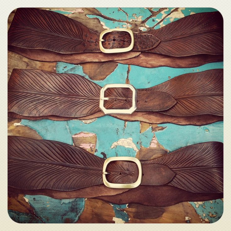 Buffalo Girl tooled leather belts