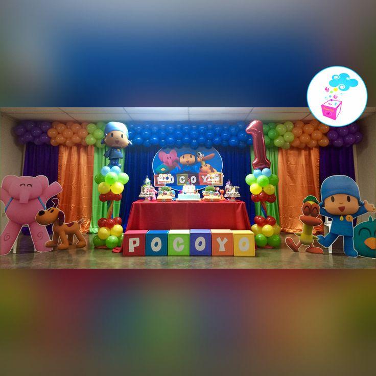 Pocoyo birthday theme showerbox events - Decoracion fiestas de cumpleanos ...
