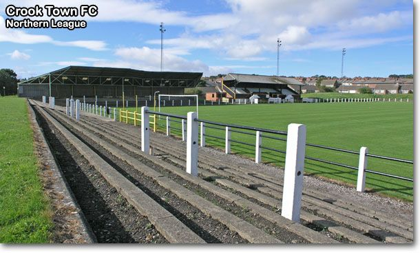 Crook Town from behind the goal