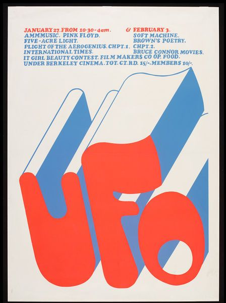 Poster advertising the UFO club in London, January 27, 1967