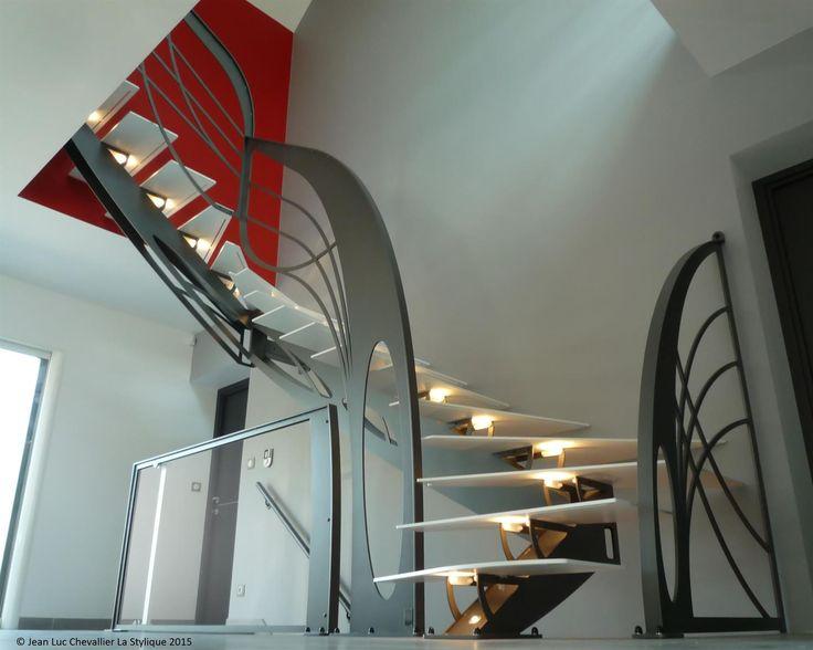 les 25 meilleures id es concernant escalier 2 4 tournant sur pinterest type d escalier limon. Black Bedroom Furniture Sets. Home Design Ideas