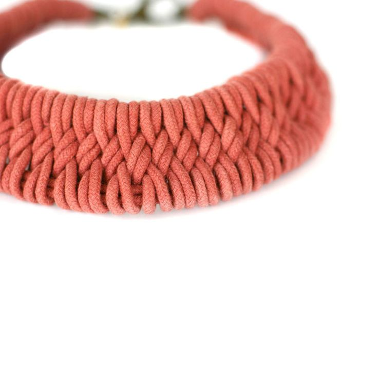 Tomales Hand Woven Necklace by Zelma Rose | http://adornmilk.com