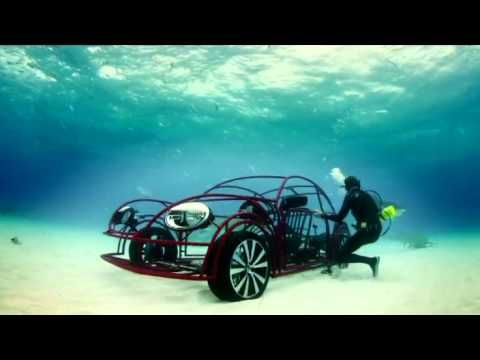 In honour of the 25th anniversary of shark week VW collaborating with the Discovery Channel builds an underwater shark cage. Anyone wants to try an underwater drive with sharks?
