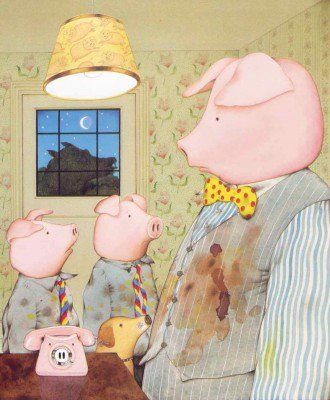 'Piggybook' by Anthony Browne invites us to reflect, right from opening the cover, the fundamental role that a mother plays within the walls of the home.  #BookReviews #ChildrensBooks