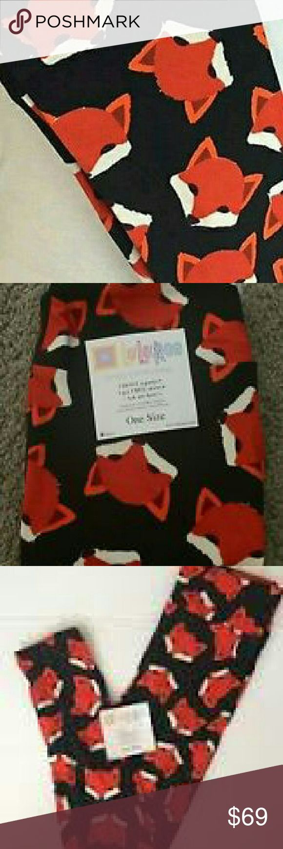 LLR brand new FOX LEGGINGS Unicorns!! I wanted these so badly..but I tried them on and I don't think they are me. They are OS New, only tried on. LuLaRoe Pants Leggings