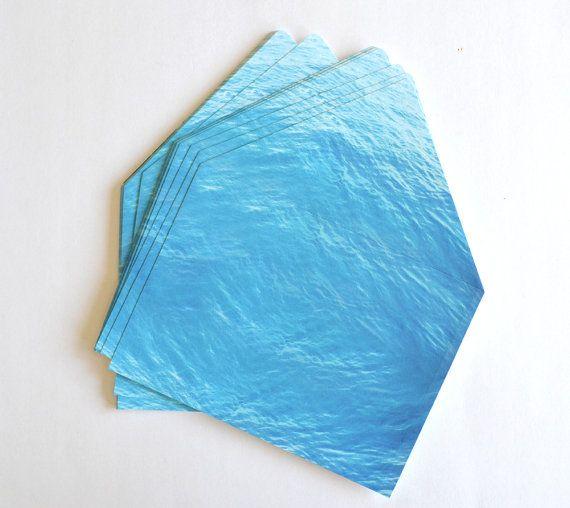 Destination wedding invitation blue envelope by DaydreamPrints