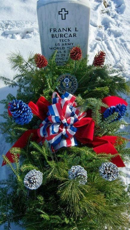 patriotic grave blanket