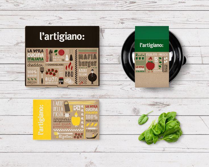 L' Artigiano italian food delivery chain rebranding by 2yolk.