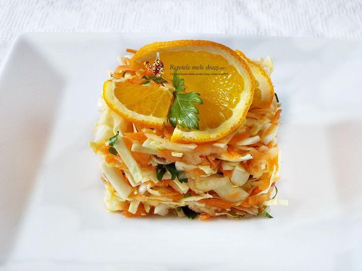 Salata de varza cu morcov si mar Vitamina C--Video