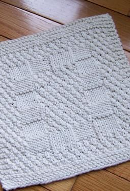 A Really Reversible Dishcloth - Free Knitting Patterns by Kathy Cairns Hendershott. Made it!