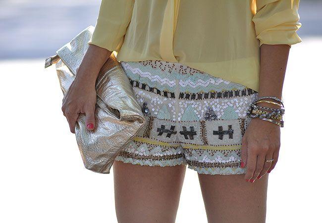 glam4you - nati vozza - short - bordado - zara - etnico - camisa - cor pastel - sandália de tira -