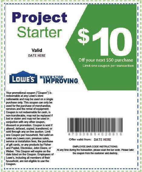 Lowes discount coupons 2018