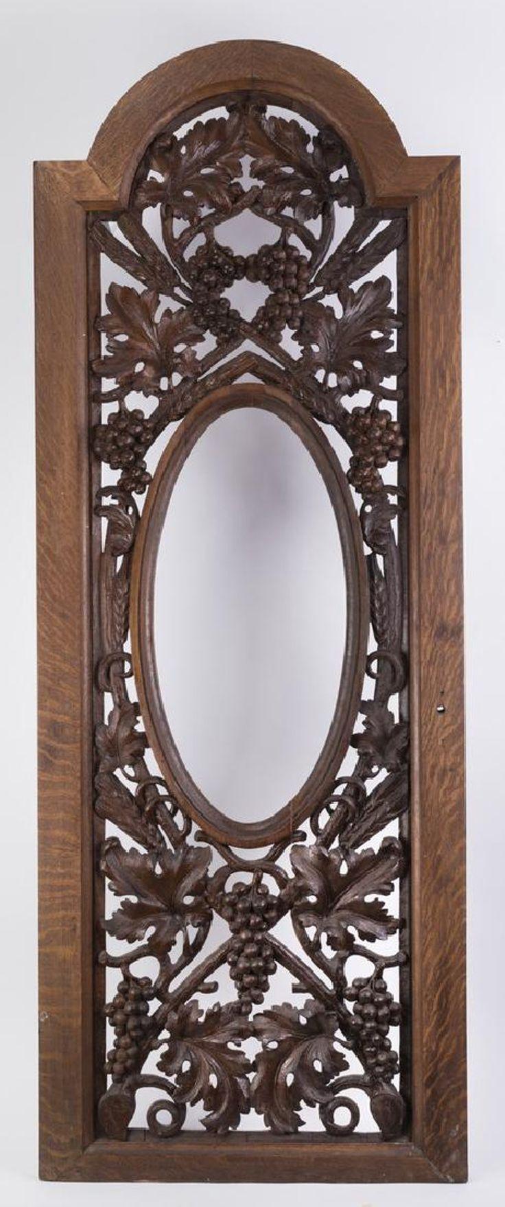 Carved oak architectural panel or wine cellar door