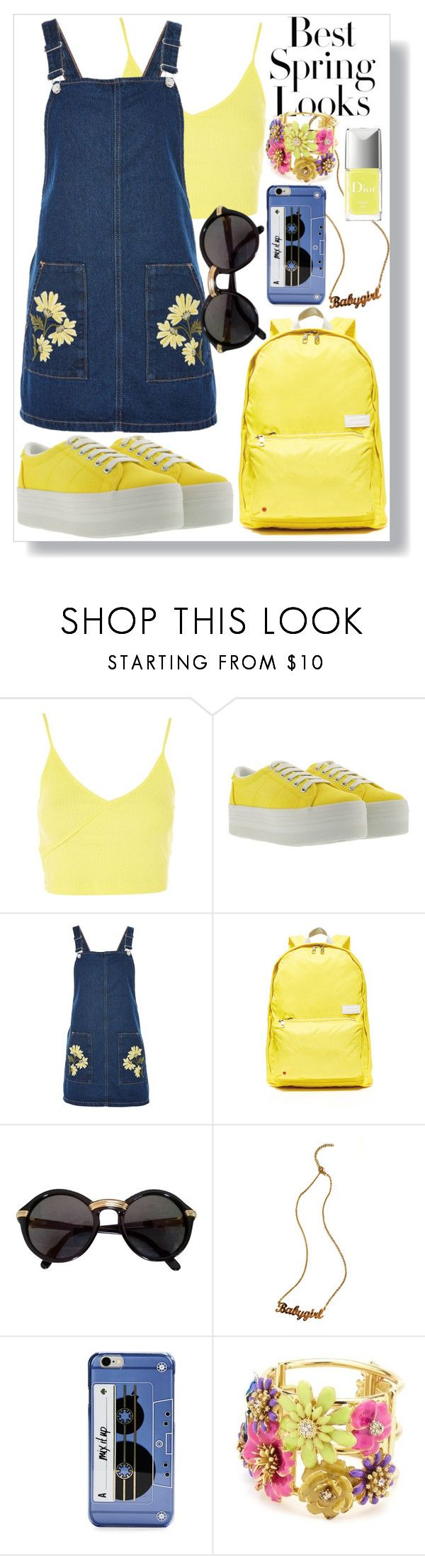 """""""It was all yellow"""" by vxctxrx ❤ liked on Polyvore featuring H&M, Topshop, Jeffrey Campbell, State, Cartier and Kate Spade"""