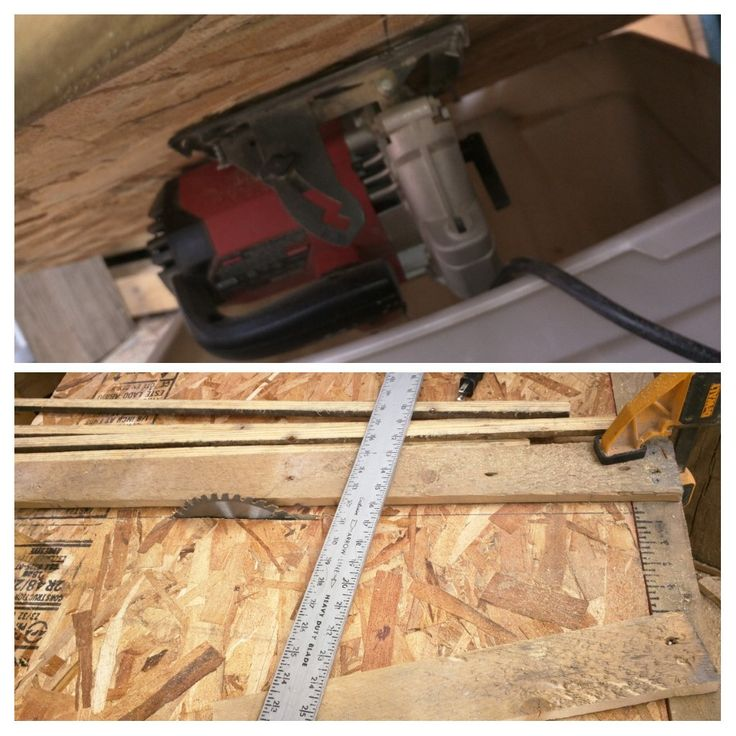 Diy table saw from skill saw