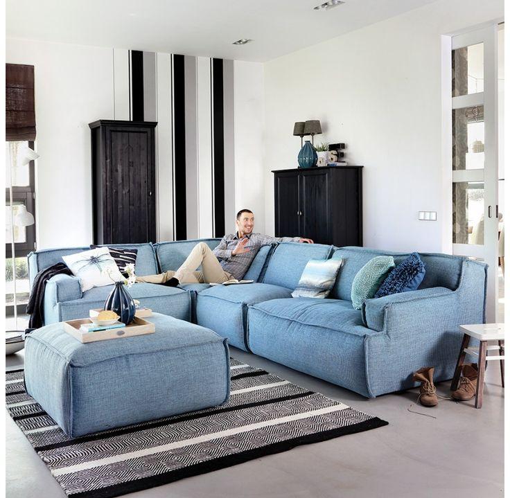 I need this couch in my life - preferably now - zitgroep model Barletta (trendhopper) - verkrijgbaar in 100 kleuren :D - elementen zelf samen te stellen!