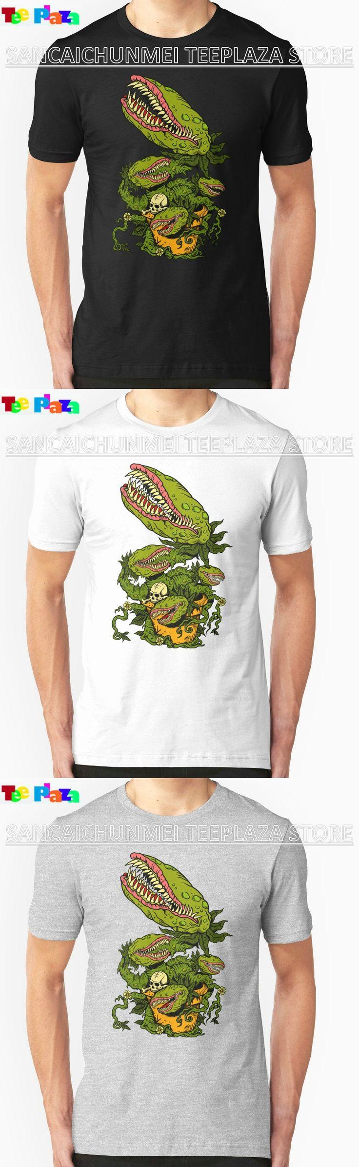 Teeplaza T Shirt Design Website Fashion Venus Fly Trap Men Short O-Neck T Shirts