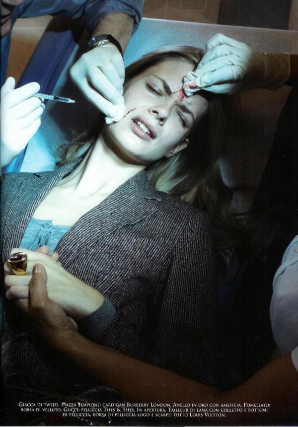 Julia Stegner Vogue Italia July 2005 Makeover madness by Steven Meisel