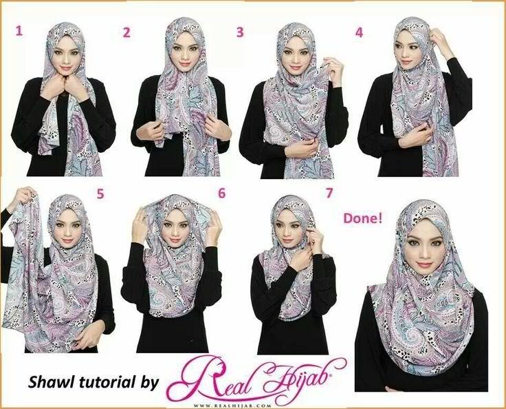 maxi / large hijab tutorial