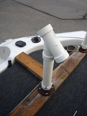 25 best ideas about boat rod holders on pinterest rod for Homemade fishing rod holders