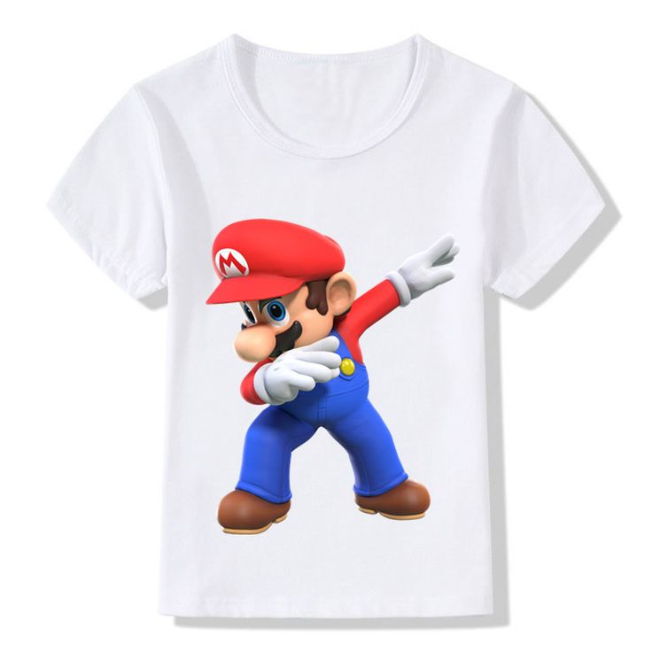 d973ea9c7b10 Dabbing Super Mario Cartoon Design Funny Children's T-Shirts Kids Casual Clothes  Toddler Tops Came Tees For Boys Girls,HKP5141   Youth and toodler shirt ...