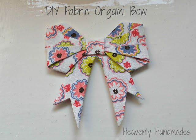 Heavenly Handmades: DIY Fabric Origami Bow