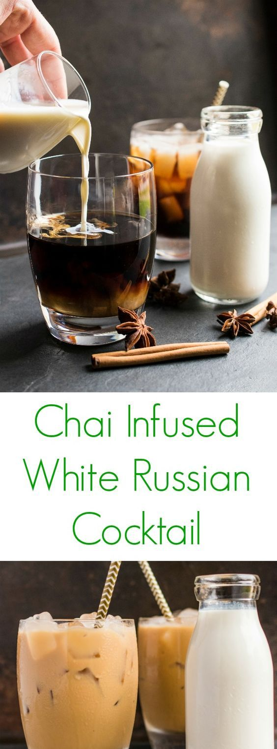 Another easy cocktail for the holiday season! Chai Infused White Russian Cocktail is a rich and creamy cinnamon spiced latte that holds all the intoxicating scents of the season!