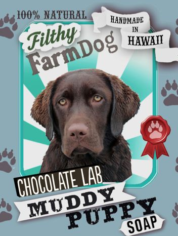Chocolate Lab Muddy Puppy Dog Soap