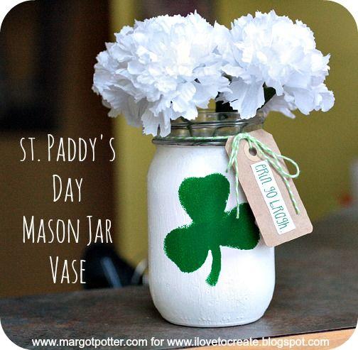 st paddy's day mason jar -